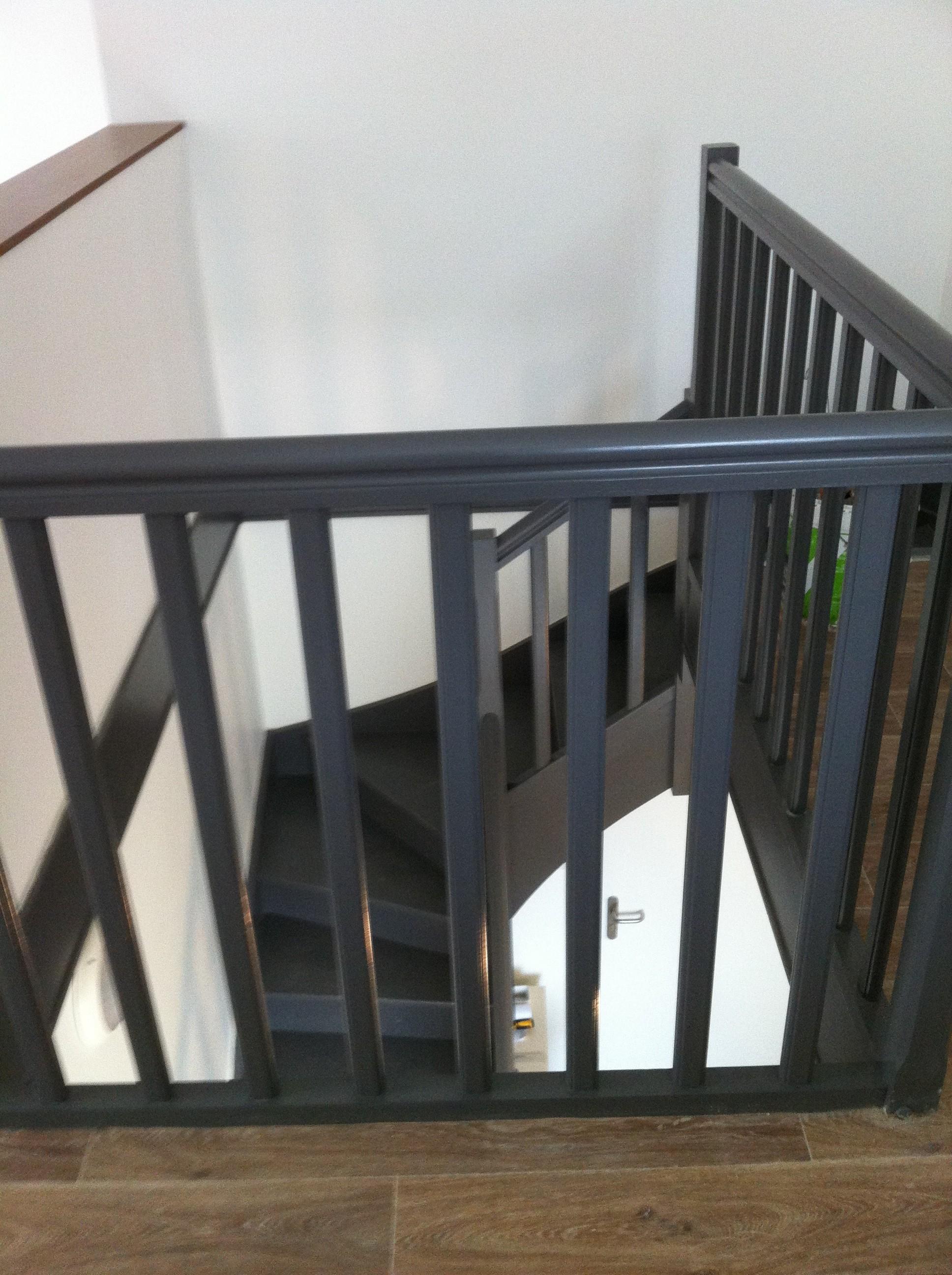 escalier bois et garde corps. Black Bedroom Furniture Sets. Home Design Ideas
