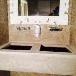 AVANT : Pose vasques et carrelages dans Hamam PARIS 11ème